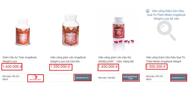 thuốc giảm cân Angellook giá bao nhiêu