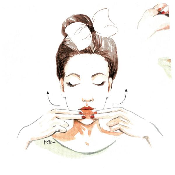 cách massage mặt thon gon