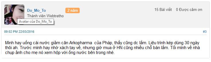 thuốc giảm cân arkopharma, arkopharma detox có tốt không, arkopharma là gì, arkopharma của pháp, arkopharma giảm cân
