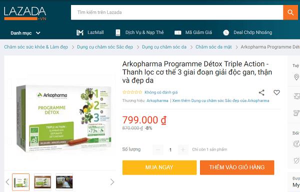 review thuốc giảm cân arkopharma detox của pháp là gì có tốt không, detox arkopharma arkopharma programme minceur giảm cân 30 ngày review