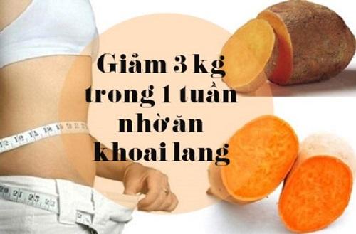 thực đơn giảm cân 7 ngày, thực đơn giảm béo bụng, thực đơn giảm cân nhanh bằng khoai lang, sữa chua trong 1 tuần 3 Kg