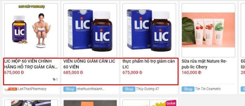 ai dùng phản hồi đánh giá của khách hàng về mua, uống sản phẩm viên uống thuốc giảm cân lic chính hãng của mỹ giá rẻ bao nhiêu tiền, có hiệu quả an toàn tốt không, giảm được bao nhiêu kg, có tác dụng phụ không, ở đâu hà nội webtretho chưa