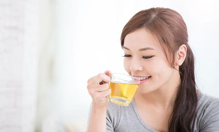 uống nước lá, nụ chè vối tươi có tác dụng giúp giảm cân không