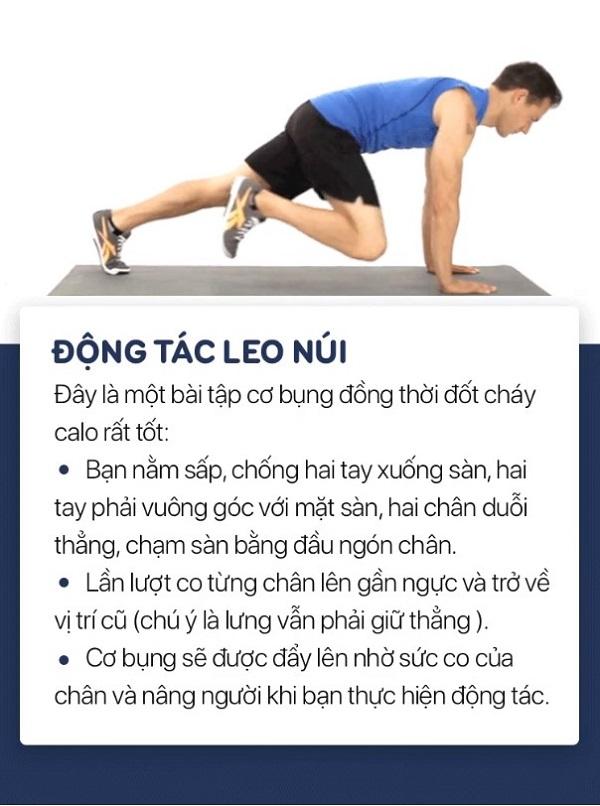 9 động tác siết chặt mỡ bụng thu gọn eo