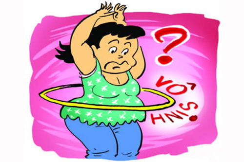 Lắc vòng giảm mỡ bụng gây vô sinh