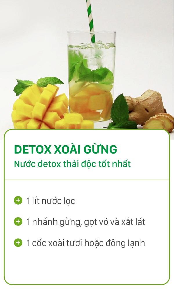 8 loại detox giảm cân