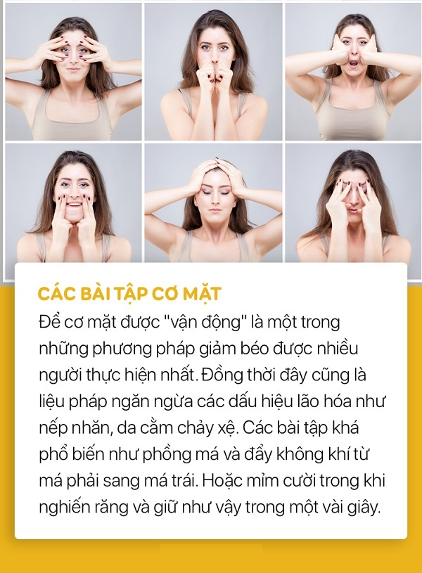 cách giảm béo mặt