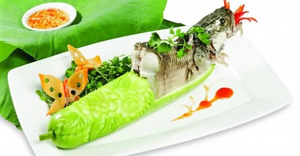 cá quả hấp bầu giảm cân