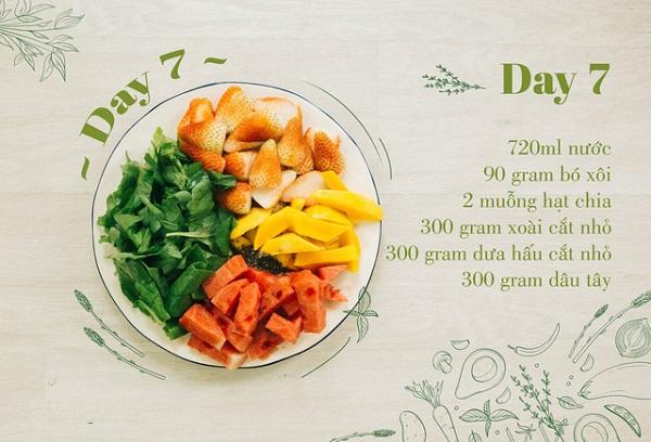 Thực đơn Smoothie detox giảm cân 12 ngày, cách làm các món nước Smoothie slim detox, thực đơn detox sinh tố 12 ngày