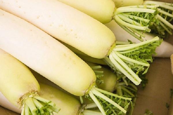 Ăn củ cải trắng giảm mỡ đùi