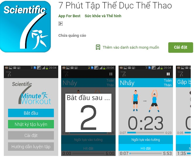 App tập thể dục giảm cân miễn phí, App tập thể dục giảm cân