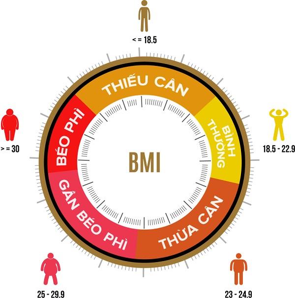 Cách tính tiêu chuẩn chỉ số bmi của nam, nữ ở người châu á thái bình dương