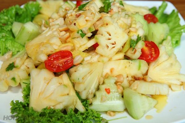 Giảm cân bằng quả dứa - Làm Salad dứa