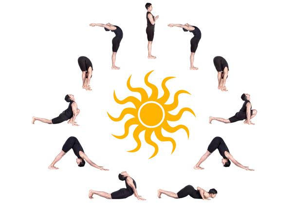 Gập bụng có giảm mỡ bụng không với bài tập chào mặt trời là tổ hợp nhiều động tác giảm mỡ bụng