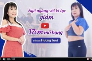 """Bí quyết để nghệ sĩ hài Thu Hương """"nằm chơi"""" cũng đánh bay 17 cm vòng bụng"""