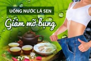 Uống nước lá sen giảm mỡ bụng – Tạm biệt mỡ thừa với thức trà thần kì từ thiên nhiên