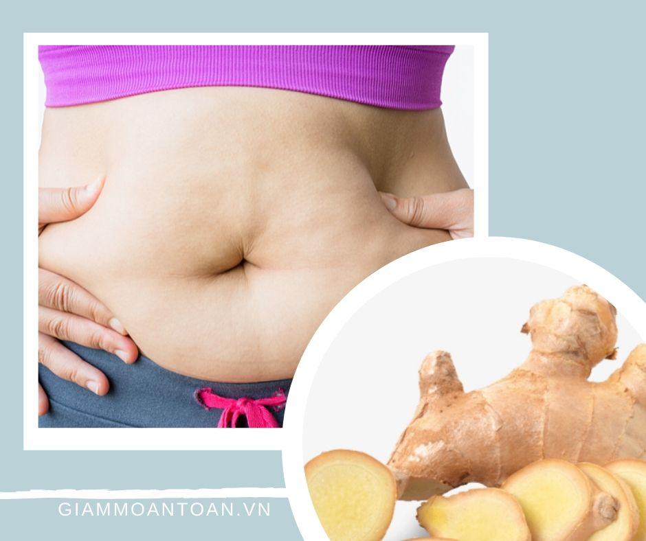 giảm mỡ bụng bằng gừng có hiệu quả không