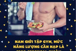 Chế độ ăn giảm cân cho nam khi tập gym? Thiết kế thực đơn giảm cân trong 3 ngày