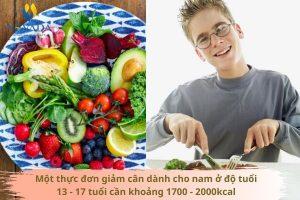 Áp dụng thực đơn giảm cân cho nam 13 – 17 tuổi, giảm 5kg sau 1 tháng nhẹ như không
