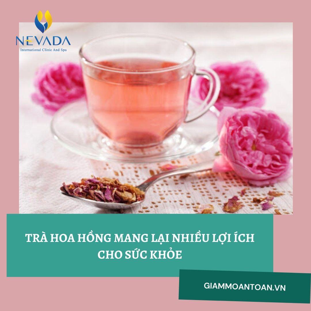 trà hoa hồng giảm cân, cách uống trà hoa hồng giảm cân, uống trà hoa hồng có giảm cân không, giảm cân bằng trà hoa hồng
