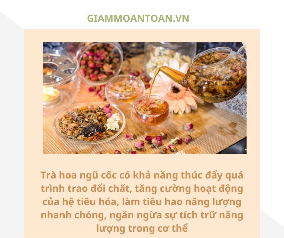 trà hoa ngũ cốc giảm cân, trà hoa ngũ cốc cơ giảm cân không, cách làm trà hoa ngũ cốc giảm cân, cách uống trà hoa ngũ cốc giảm cân
