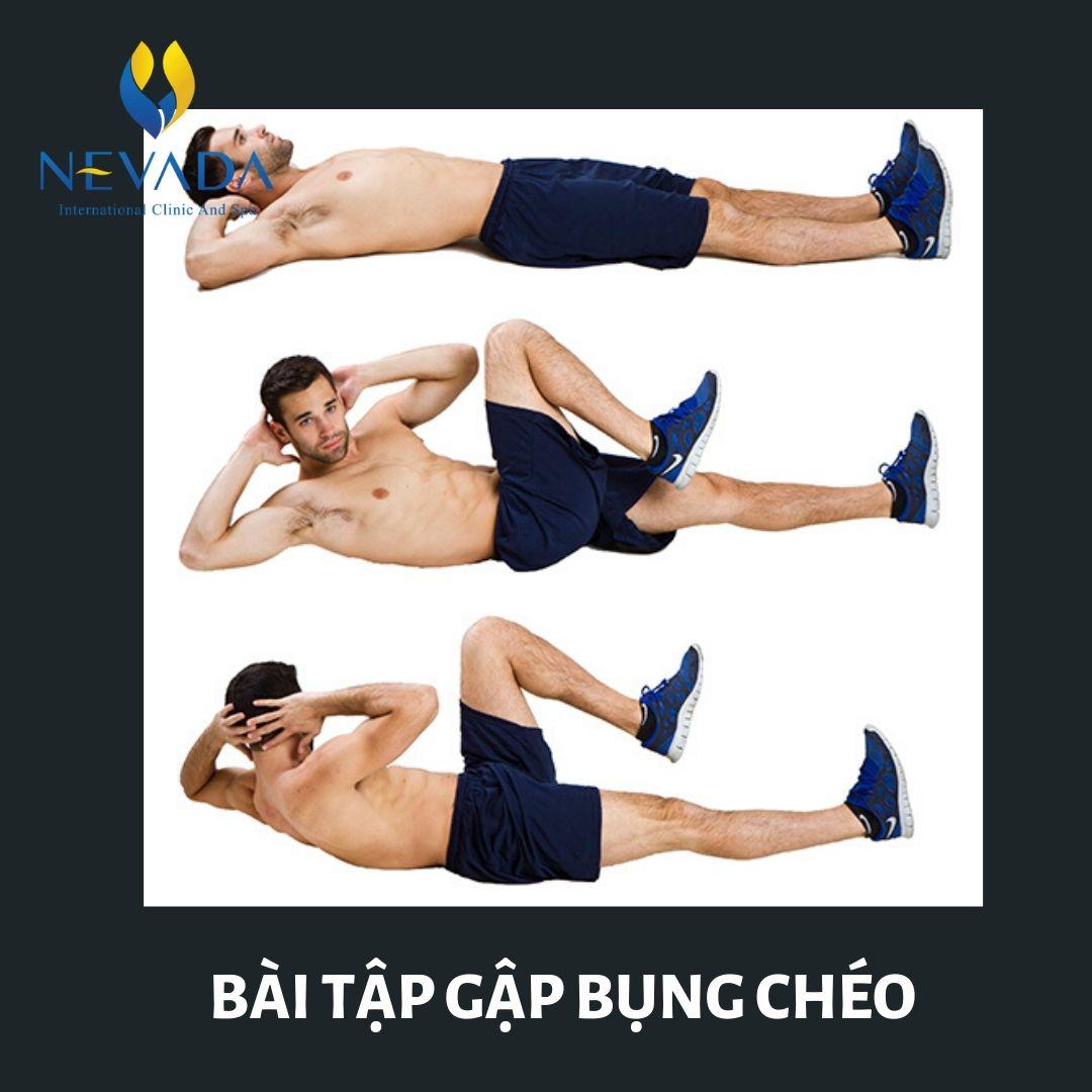 Các bài tập giảm mỡ bụng cho nam giới tại nhà, Các bài tập giảm béo bụng cho nam giới tại nhà