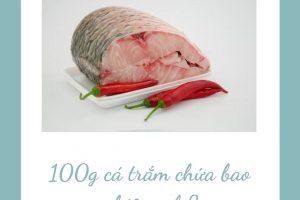 100g cá trắm chứa bao nhiêu calo? Ăn cá trắm có béo không?